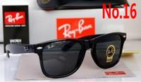 Wholesale Plastic Aviator Glasses - Hot Sale Aviator RAY Sunglasses Vintage Pilot Brand Sun Glasses Band UV400 BANS Men Women Ben wayfarer 50mm free shipping