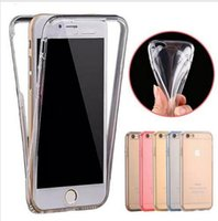 Wholesale Body Sharper - For iPhone 7 Case Ultra Thin 360 Degree Clear Cases Soft TPU Rubber Gel 2 in 1 Front and Back Cover Full body