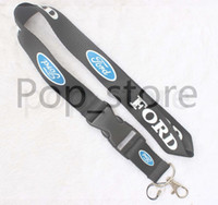 Wholesale Badges Automobiles - Automobile wind 0FORD Lanyard Keychain Key Chain ID Badge cell phone holder Neck Strap black.