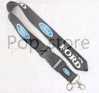 Automobile wind 0FORD Lanyard Keychain Porte-clés ID Badge support de téléphone portable Neck Strap noir.