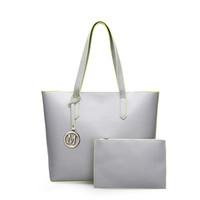 Wholesale Gray Clutch Handbag - Women Handbags Pu Leather Bags Composite Big Gray Shoulder Bag Designer Bags Handbags Women Famous Brands Set Tote Clutch Bag