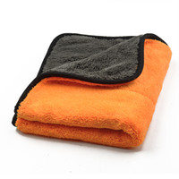 Wholesale Wholesale Towels Plush - Wholesale- 45cmx38cm Super Thick Plush Microfiber Car Cleaning Cloths Car Care Microfibre Wax Polishing Detailing Towels