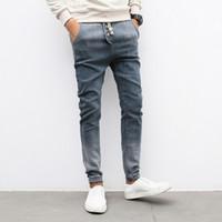Wholesale Cheap Beige Skinny Jeans - Wholesale-2016 new Large Plus Size 4XL5XL Blue Elastic Men Jeans chalaza Slim Fit Straight Denim Pants cheap price Men's Jean Skinny Homme