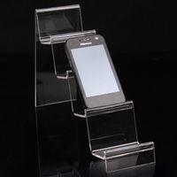 mobiltelefone displayhalter stehen großhandel-Mode Klaren Acryl 4 Schichten Telefon Stand Handy Regal Display Armband Halter Uhr Handy Rack Schmuck Display Schaufenster