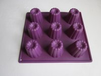 Wholesale Silicone Molds For Cake Decoration - 10 pcs lot 100% 9 holes silicone cake mould baking molds cake decoration tools for kitchen tools free shipping LFGB certificate