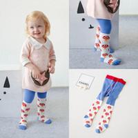 Wholesale Tight Clothes Hot Pants - Cute Baby Girls Pantyhose Cartoon Mushroom Children Leggings Tights Socks kids legging Hot Korean Girl's Clothing PP Pants Tight A6772