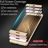 Wholesale Glass Nova - Full Cover Film For Iphone 6S 7 Plus 3D Carbon Fibre Soft Edge Temper Glass Screen Protector For Huawei Honor 8 Lite Nova