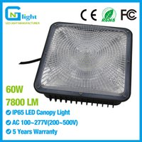 Wholesale Profile Ceiling - Low profile 60 watt Gas station canopy led light, 250w equivalent, 5000K, IP65 garage carport warehouse ceiling lighting