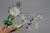 ingrosso plastica in titanio-2016 Miele Paglia Nettore Collettore 5.0 Pipa ad acqua per fumatori con chiodo in titanio Clip di plastica 14mm Dab Rig Recycler Bong Pipes