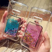 Wholesale Iphone Sand Cases - Transparent Lady First Phone Case Drift Quick Sand Liquid Sand Glitter Bling Cases call reminder phone cover for iPhone 6 6Plus 7 7 Plus