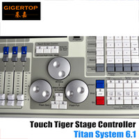 Flight Case Pack Alta qualidade Original Tiger Touch DMX Controller Titan 6.1 Sistema de tela LCD Touch, Tiger Touchable 15.4 Screen Led Stage