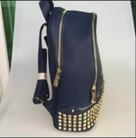 Wholesale Laptop Satchel Women - M 2017 Luxury brand women bag School Bags Fashion Famous designers rivets backpack women travel bag backpacks laptop bag Free shipping