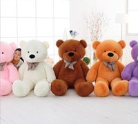 Wholesale Giant Plush Lovely Bear - 2017 hot lovely 120CM 3.94 FOOT Giant Huge plush teddy bears Holiday Gifts Christmas Stuffed Plush toys Free shipping