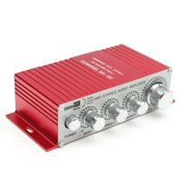 Compra Mini Usb Dell'amplificatore Dell'automobile-200W 12V 5A mini amplificatore Hi-Fi Amplificatore di potenza Ripetitore MP3 MP3 Disco MP3 Riproduttore SD Stereo digitale per l'auto Motocicletta Home Red