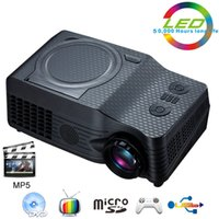 Wholesale Mp5 Hdmi - Wholesale-Home Theater Full HD native 1080P Video Portable proyector EC-539A projector With DVD,FM,RMVB(MP5),TV,GAME,USB,TF Card,AV IN