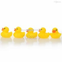 Wholesale Yellow Rubber Ducky Toy - Hot -selling Lots Yellow Baby Children Bath Toys Cute Rubber Squeaky Duck Ducky 20Pcs free shipping