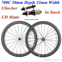 Wholesale 24 Inch Road Wheel Set - Novatec 291 482 Hubs Full Carbon Bike Wheels 700C 50mm Depth 23mm Width Carbon Bicycle Wheelset UD Matte Clincher 20 24 Spokes