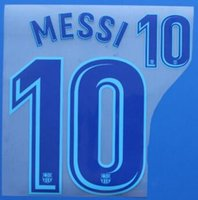 Wholesale Messi Away Blue name and number Messi name sets