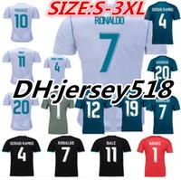 Wholesale Shirt Black Blue White - 2017 2018 Real Madrid Third Soccer Jersey 17 18 Away soccer shirt Ronaldo Bale Football uniforms Asensio SERGIO MODRIC RAMOS MARCELO sales