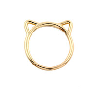 Wholesale Animal Shape Ring - Zinc Alloy Cat Ear Shape Rings for Women Animal Hollow Cat Ear Party Ring 2016 New Fashion Wedding Gifts