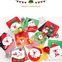 Wholesale Greeting Card Theme Christmas - 3 pcs lot Creative different shape Christmas theme small card Christmas New Year greeting message card Gift cards with envelope