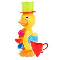 spray de pato al por mayor-El nuevo listado de niños Faucet Bath Toy Baby Bath Duck Toys en el baño Kids Water Spraying Tool Regalo para niños niñas bebé