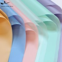 Wholesale Specialty Papers - DIY Flower Wrapping Paper Thickened Waterproof Solid Colors Packing Papers Translucent Eco Friendly Flowers Package Supplies New 12yd B
