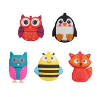 Moda Pendrive USB Stick 32GB 4GB 8GB 16GB Animal Coruja Penguin Fox Bee USB Flash Drive para Crianças Toy Gift
