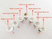 Wholesale coil nail replacement for sale - Group buy Glass Globe dual Ceramic Titanium Wicks replacement COIL Nail ATOMIZER vaporizer VAPE PEN Coil For globe Dome set Dual Wax Dry herb Coils