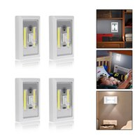 COB LED Switch Light Sans fil sans fil Cabinet Closet Cuisine RV Night Light lumière blanche à la coquille