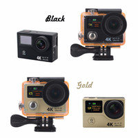 su geçirmez dijital video camcorder toptan satış-4 K 25fps Video HD Eylem Kamera EKEN H3 Çift Ekran Wifi Su Geçirmez Spor Dalış 30 M 170 derece DV DVR dijital Kameralar DHL