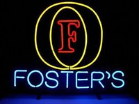 Nuovo logo di Foster firmato Real Handcrafted Vetro Neon Light Sign Casa Birra Bar Pub Sala ricreativa Sala giochi Garage Windows 19x15