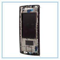 faceplate original venda por atacado-Alojamento médio da moldura da placa frontal da placa do quadro com adesivo para LG G4 H815 H818