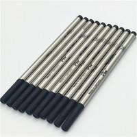 caneta esferográfica de alta qualidade venda por atacado-Luxo de alta qualidade 6 PCS muito preto M710 mb caneta recarga para roller ball pen