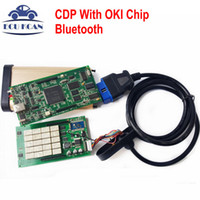 Wholesale Vci Scanner - Wholesale- TCS CDP With OKI Chip Bluetooth CDP Pro Plus 2014 R2 Keygen OBDII Diagnostic Tool For Cars&Trucks Tcs Scanner MVDIAG NEW VCI DS