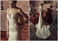 Wholesale Cheap Wedding Dreses - Unique 2017 Beaded Embroidery Mermaid Wedding Dreses With Sweetheart Neck Sheer Back Country Wedding Gowns With Panel Cheap Bridal Gowns