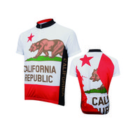 Wholesale California Clothing - 2017 California Republic cycling jersey men short-sleeve cycling clothing summer Customized maillot road bike clothing
