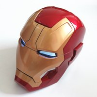 eisen mann vollmaske großhandel-Manuelle volle Skala Iron Man Wearable ABS Helm Mark 42 Mark 43 MK42 MK43 Replica Cosplay Maske mit LED-Licht