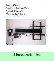 Wholesale Tv Lift Actuator Linear - free shipping 16inch or 406mm stroke 26''-32''TV usage wireless tv lift linear actuator can used for cabinet and bed
