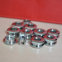 Wholesale rivet brass - 10 pieces Grommets brass gas hole screw Threaded connection eyelet DIY bag belt part hardware handmade cloth ring buckle hole