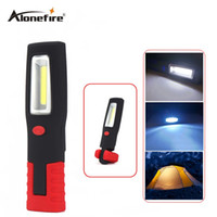 Wholesale Magnetic Led Flashlights - AloneFire C028 COB Work Light Torch Linternas Magnetic + Swivel Hook Camping Outdoor Lamp COB LED Stand Flashlight Outdoor Work Light