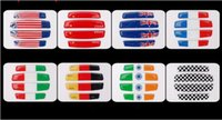 Wholesale 3d Stickers Italy - High Quality Car Styling Italy Italian Flag Car Door Protective Sticker France Indian flag Australian Canada Germany American China F1 flag