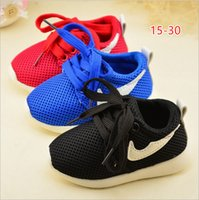 Wholesale Baby Girl Shoes Rubber Soles - Free shipping 2017 spring mesh fabric girls and boys toddler baby kids shoes sports running sneaker lace up rubber soft sole breathable