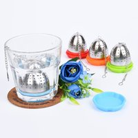 Wholesale Cast Iron Gifts - Silicone Tea Infuser Loose Tea Infuser Filter Fun Novelty Gift With Saucer Silicone And Stainless Steel Leaf Tea Infuser