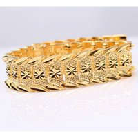 """Wholesale Mens Chunky Gold - NEW Chunky 24k Yellow Gold Filled Mens Womens watchband Chain Bracelet 8.3"""" Statement Jewelry 40g"""