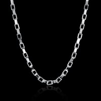Wholesale Large White Jewelry Box - Chain chokers necklaces & pendants silver necklace accessories fashion jewelry for girls Large rectangular box with gift box NK-178