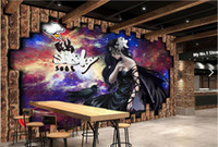 Wholesale nostalgic wallpaper resale online - 3d wallpaper mural Custom European style Nostalgic game beauty bar background wall luxury gold wallpaper