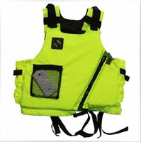 Wholesale Fluorescent Vests - Wholesale- Free shipping New brand Kayak Life Jacket Buoyancy aids,Surfing Lifejacket,life vest, Fluorescent yellow and orange