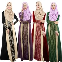 Wholesale Xl Muslim Woman Clothes - Abaya Turkish Women Clothing Muslim Dress Islamic Clothes for Women Robe Musulmane Jibabs Dresses Dubai Kaftan Vestidos Longo Hijab Clothing