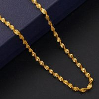 Wholesale gold snake chain 1mm - 1MM 18k gold plated chain wave necklace pendant chain of diy accessories gold Chains necklace